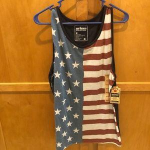 New Mens American Flag Tank Top